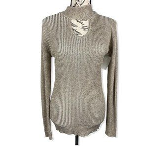 Bell fini Gold ribbed pullover sweater